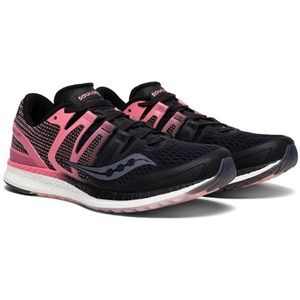 Saucony Liberty ISO Pink Black Running Shoes 7.5